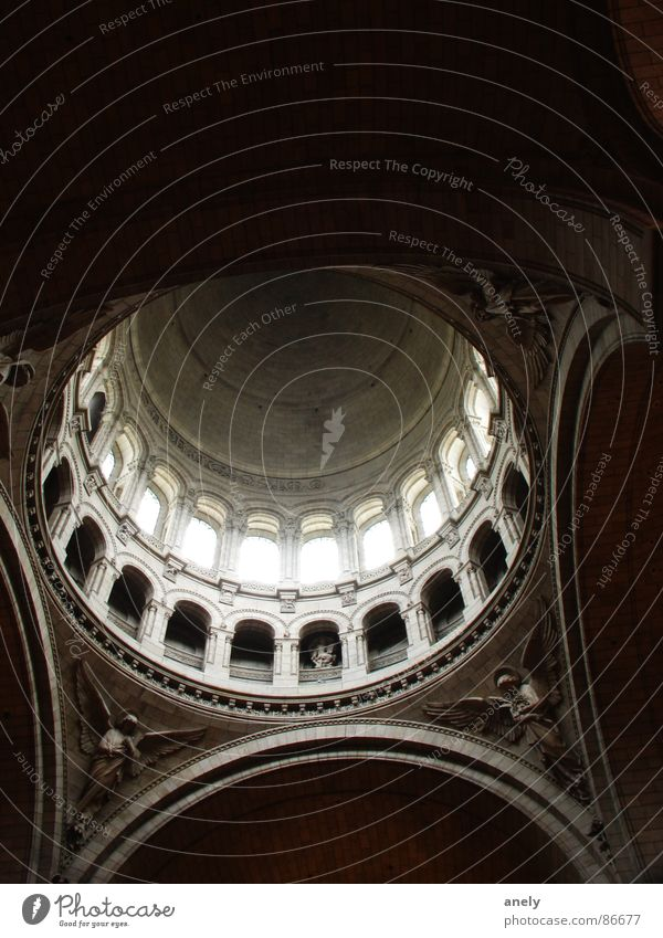 twilight of the gods Religion and faith Tourism Heavenly Sublime Light Deities Paris Domed roof Stucco Think Interior shot Sacré-Coeur House of worship