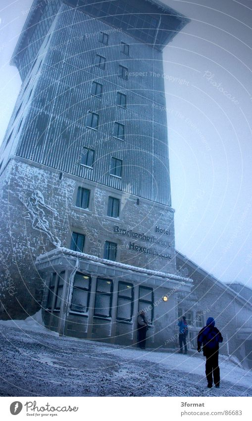 House (Residential Structure) Cold Snow Gray Power Hiking Might Threat Tower Protection Gastronomy Hotel Force Monument Landmark Surrealism