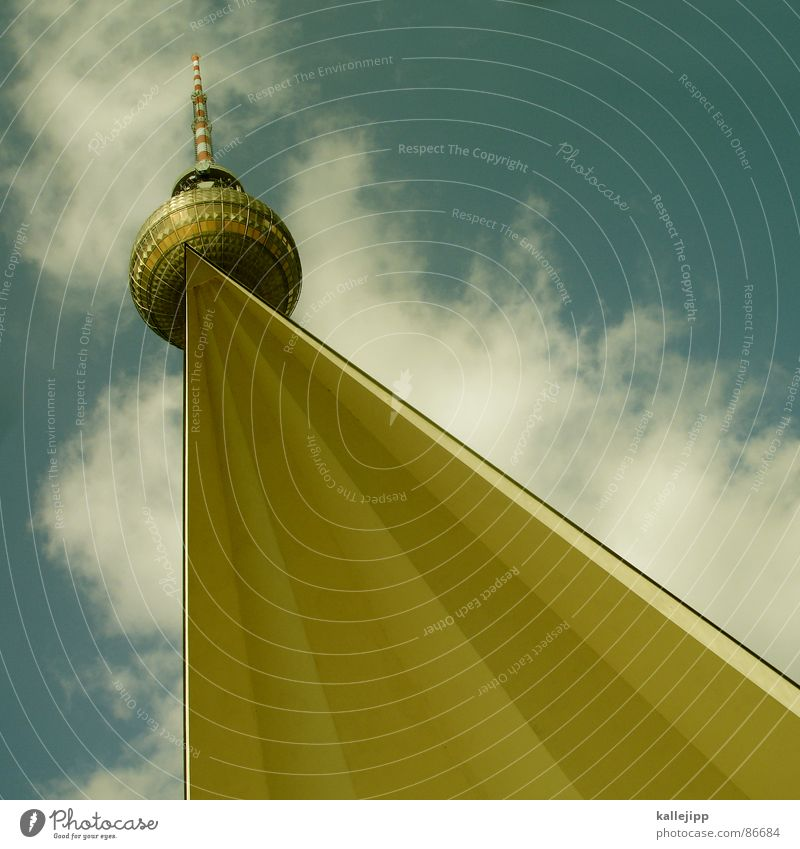 Sky Berlin Hair and hairstyles Art Tall Feather Tower Level Well Middle Sphere Monument Statue Landmark GDR Tourist Attraction