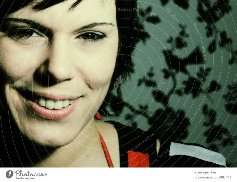 Woman Joy Laughter Wallpaper Grinning Attractive Exciting