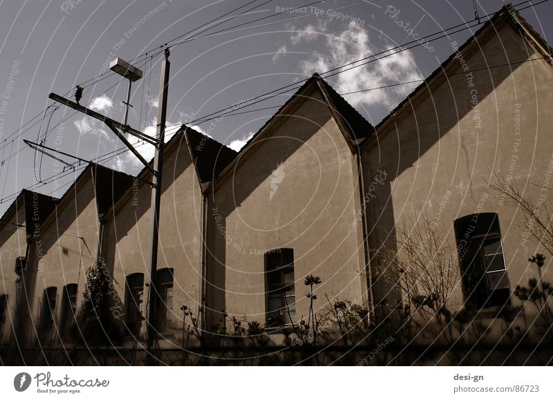Sky House (Residential Structure) Building Railroad Industry Factory Construction site Derelict Warehouse Train travel Depot