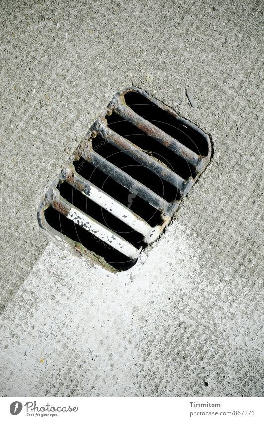 Colour White Black Emotions Gray Line Metal Wait Esthetic Concrete Simple Floor covering Dry Grating Drainage Rectangle