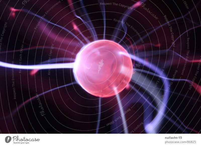 red planet VI Plasma globe Globe Structures and shapes Planet Light Lightning Stripe Corona Red Touch Playing Electricity Mars Beacon Radiation Strike
