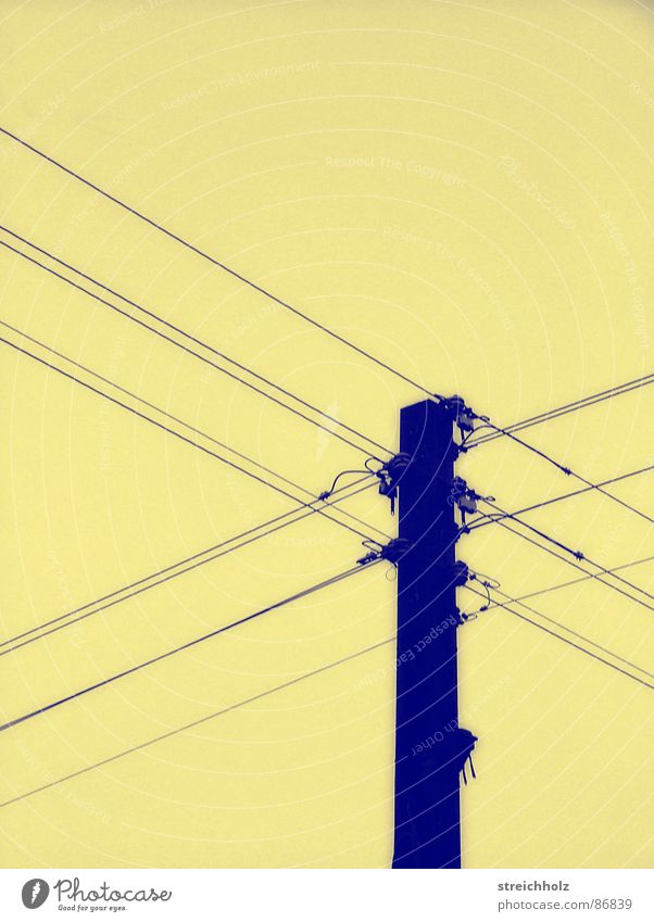 Power pole like in omas times Electricity Abstract Junk goods Conservative Antiquarian Soviet zone Scrap material Soviet occupied zone Converter GDR