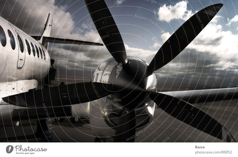 Sky Vacation & Travel Clouds Gray Power Metal Airplane Wind Flying Trip Modern Aviation Adventure Future Technology Near