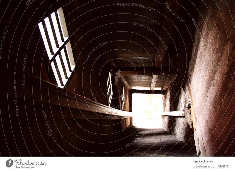 Old Dark Window Wood Bright Germany Tall Stairs Dangerous Threat Monument Historic Sudden fall Landmark Handrail Downward