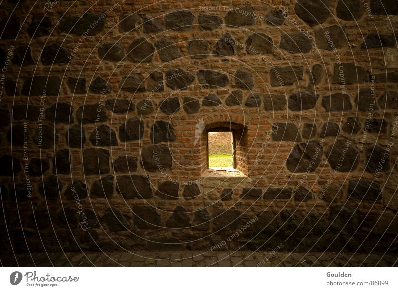 Window Freedom Stone Wall (barrier) Vantage point Brick Historic Hollow Escape Captured Penitentiary Hiding place Fortress Jail sentence Border