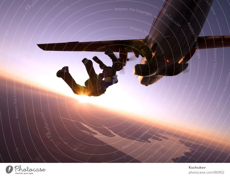 Freedom Sky Sunset Extreme Extreme sports skydive airplane Sports ceiling separation