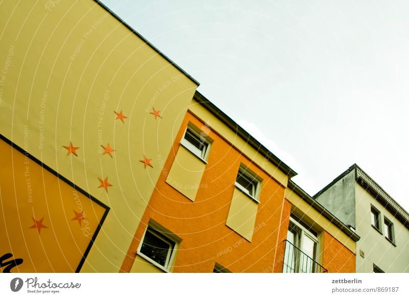 Sky City Christmas & Advent House (Residential Structure) Wall (barrier) Building Berlin Anti-Christmas Art Facade City life Living or residing Decoration