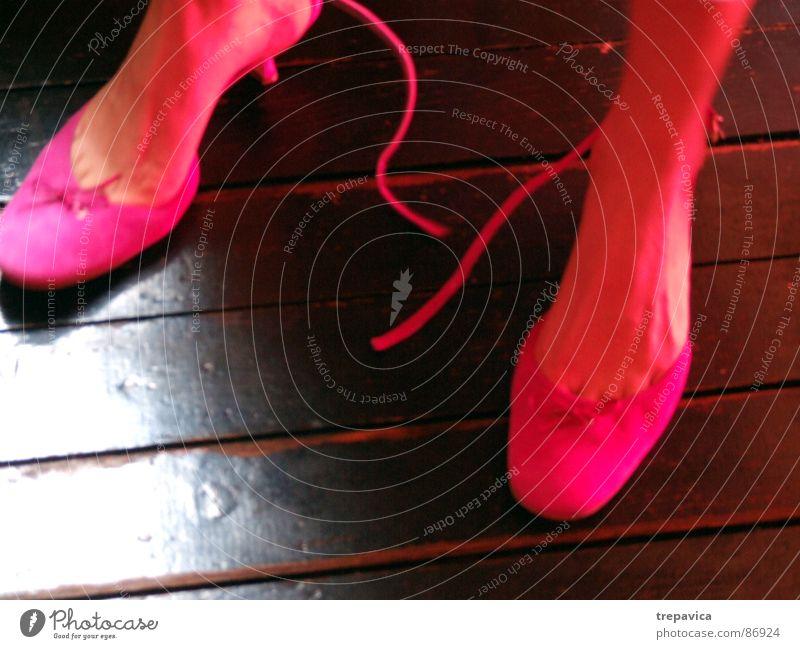 Woman Feet Footwear Legs Dance 2 Pink Clothing Lady Parquet floor Extract Landing High heels Loop