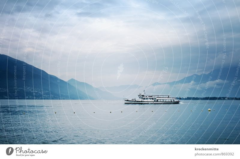 Langensee gang Vacation & Travel Tourism Nature Landscape Bad weather Waves Coast Lakeside Lago Maggiore Transport Means of transport Passenger traffic