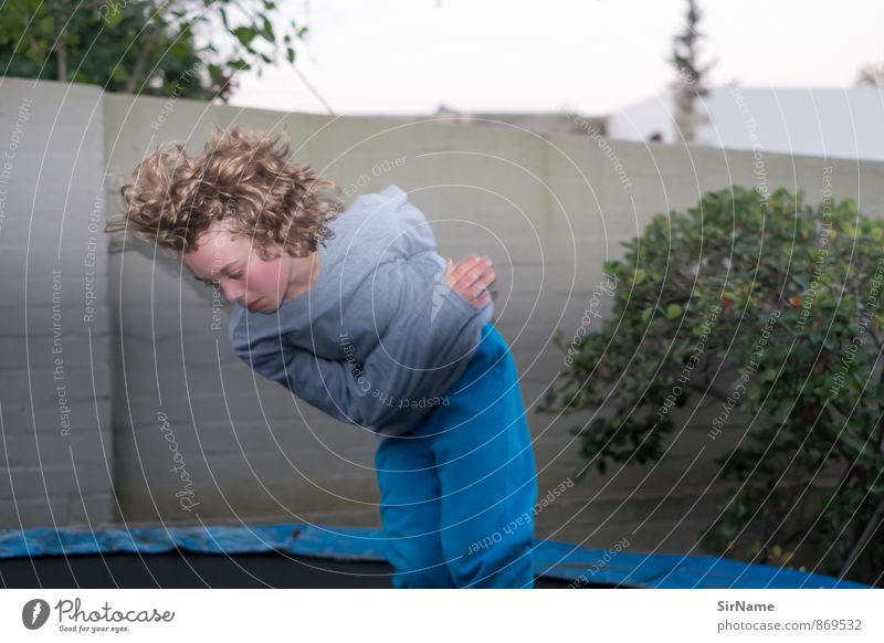 Human being Child City Wall (building) Life Movement Boy (child) Wall (barrier) Playing Hair and hairstyles Garden Jump Leisure and hobbies Flat (apartment)