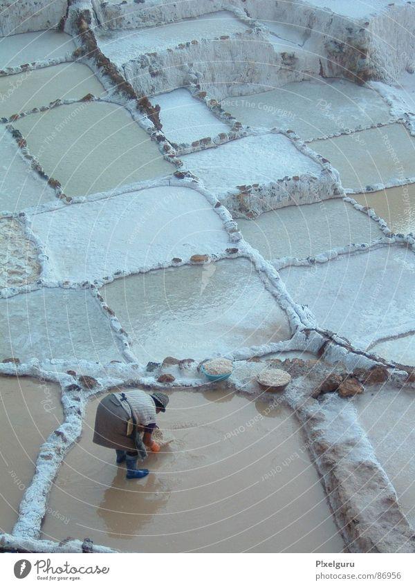 salt Woman Basket Peru Ladle South America skim I know. terraced salt terrace Salt Work and employment Basin Water