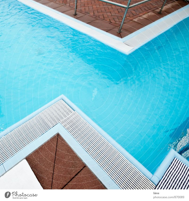 Seahorse l zigzag Swimming & Bathing Vacation & Travel Tourism Trip Swimming pool Sports Blue Beginning End Pool border Turquoise Sharp-edged Zigzag Pattern