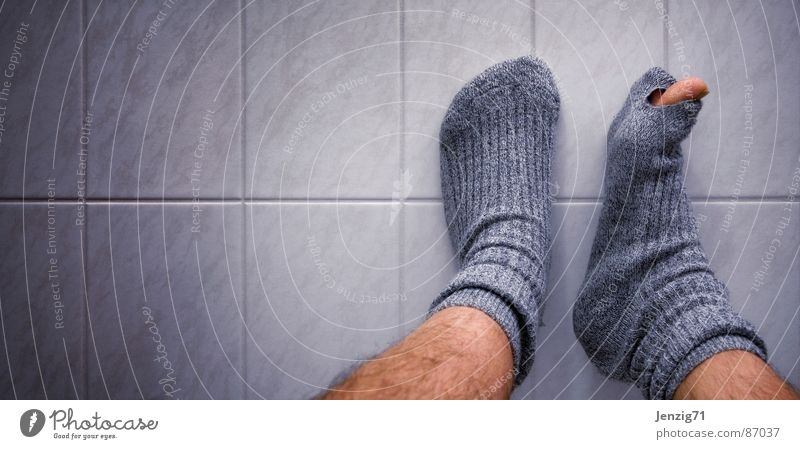 Feet Legs Going Walking Clothing Floor covering Broken Tile Hollow Stockings Material Destruction Joint Depart Calf Knit
