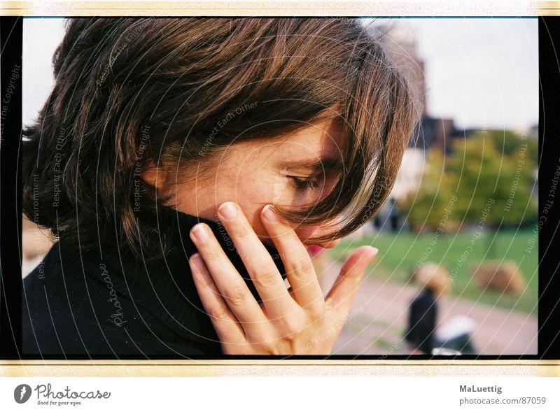 Daniela I Portrait photograph Roll-necked sweater October Cologne Hand Saturn brunette