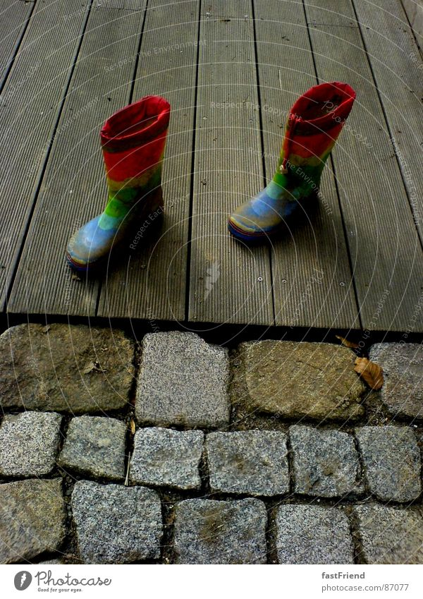 Joy Autumn Wood Stone Feet 2 Watercraft Rain Footwear Infancy In pairs Terrace Rainbow Rubber boots Splendid Veranda