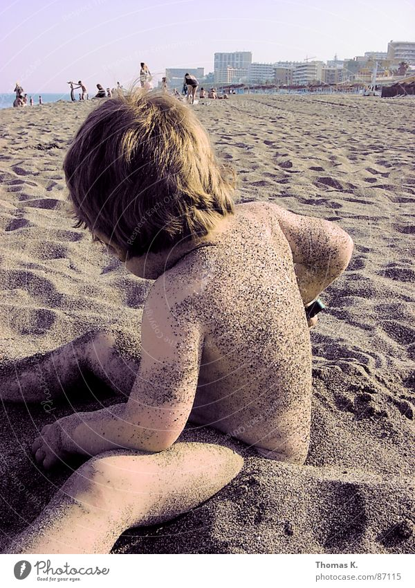 Human being Child Sky Vacation & Travel Summer Joy Beach Eyes Colour Playing Head Hair and hairstyles Coast Funny Mouth Nose