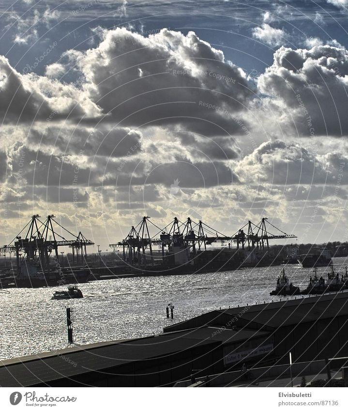 Hamburg Industry Harbour Jetty Navigation Elbe Dock Waterway