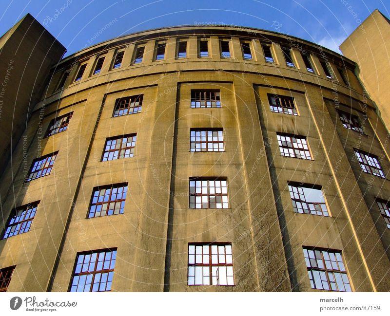 gasometer Gasometer Dresden Window Industry gas storage Sky