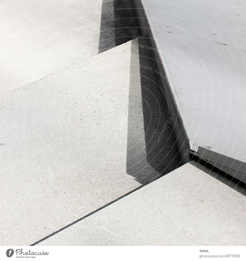 Floor mat I Manmade structures Architecture Stairs Lanes & trails Stone Concrete Metal Line Corner Esthetic Design Services Town Black & white photo Close-up