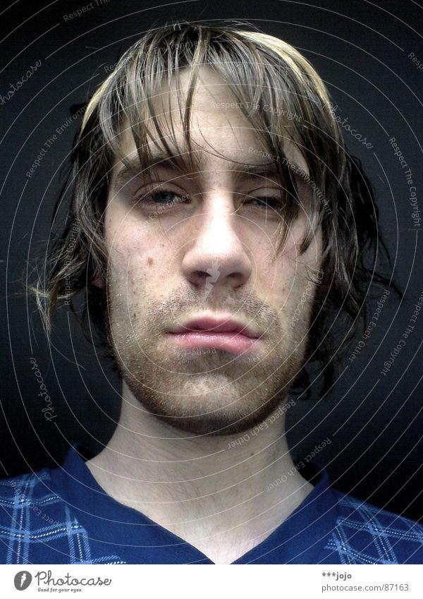 Man Hair and hairstyles Funny Bed Broken Fatigue Self portrait Feeble Late Amazed Lifeless Strand of hair Gooseflesh Arise Bushy Oversleep