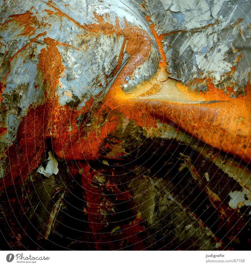 Colour Metal Industry Broken Transience Decline Rust Shabby Furrow Destruction Hedge Varnish Scrap metal Flake off Damage Annihilate
