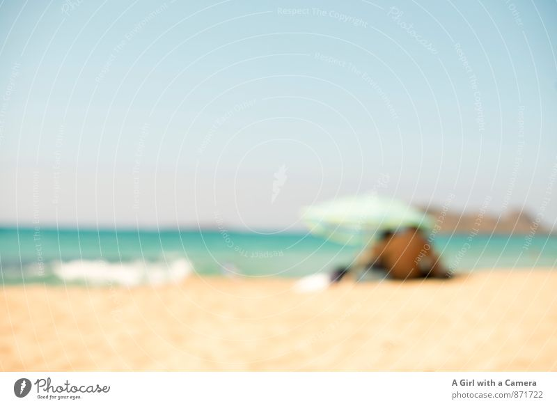 a day on the beach Environment Nature Landscape Sky Cloudless sky Summer Weather Beautiful weather Waves Beach Hot Sunshade Protection Warmth To enjoy
