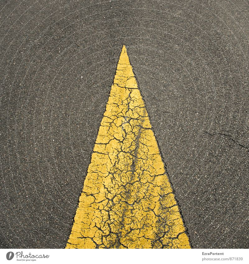 Old City Colour Black Yellow Street Lanes & trails Line Design Transport Esthetic Point Illustration Sign Asphalt Arrow