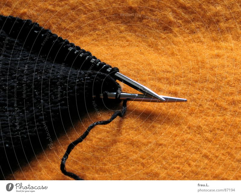 Relaxation Orange Art Glittering Clothing Leisure and hobbies Craft (trade) Blanket Left Right Wool Needle Old fashioned Loop Cotton