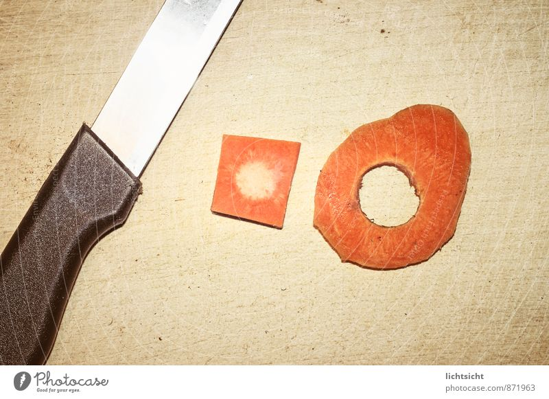 Wood Food Orange Decoration Nutrition Idea Round Cooking & Baking Sign Symbols and metaphors Vegetable Wooden board Whimsical Sharp-edged Knives Diet