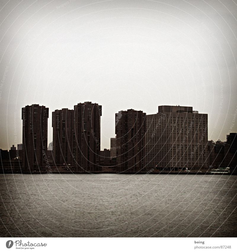 Water Ocean City Winter Dark Autumn High-rise Harbour Skyline New York City Manhattan Block Hudson River East River