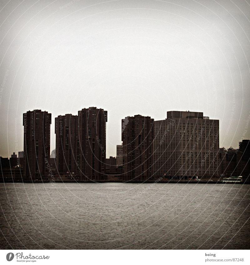 Water Ocean City Winter Dark Autumn High-rise Harbour Skyline New York City Manhattan Block Hudson River East River