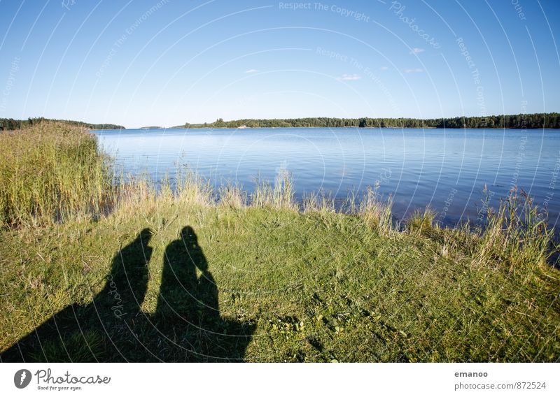 Swedish shadows Lifestyle Joy Vacation & Travel Tourism Trip Far-off places Freedom Human being Friendship Couple Partner 2 Nature Landscape Water Summer Grass