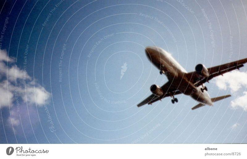 Sky Clouds Freedom Air Airplane Beginning Speed Aviation