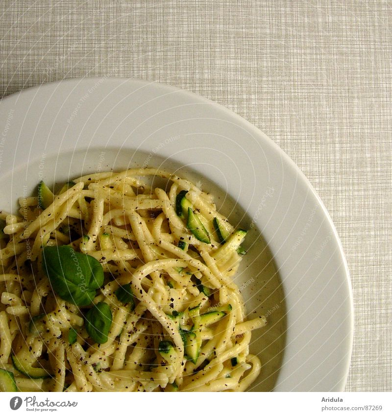 Nutrition Table Kitchen Dish Vegetable Gastronomy Appetite Delicious Plate Meal Lunch Noodles Herbs and spices Vegetarian diet Basil Pasta