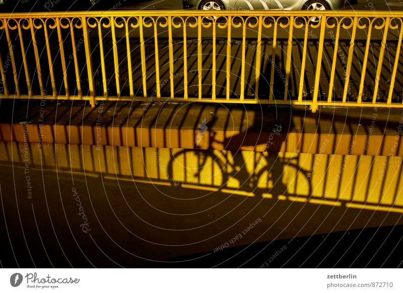 bicycle Berlin Town Germany Building House (Residential Structure) Downtown City life Shadow Bicycle Cycling Cycling tour Bridge Handrail Banister