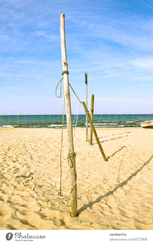 pole Relaxation Vacation & Travel Horizon Coast Mecklenburg-Western Pomerania Ocean Baltic Sea Beach Deserted Far-off places Longing Sand Sandy beach Copy Space