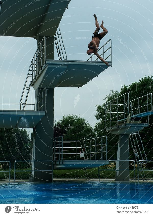 Water Summer Fear Going Swimming pool Panic Bursting Ski jump