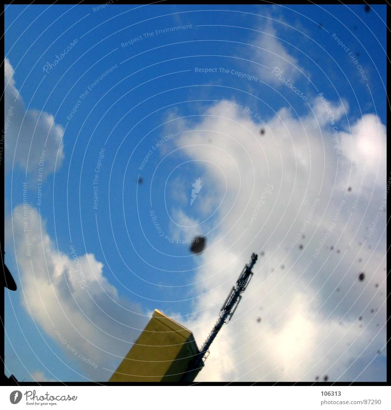 Sky Stone Dirty Tower Image Dresden Mirror Mail Antenna Mirror image Street sign Shed Drop by