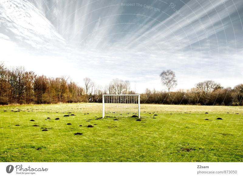 GAME R A U U M Life Leisure and hobbies Sports Soccer Goal Sporting Complex Football pitch Landscape Sky Summer Beautiful weather Tree Bushes Meadow Field