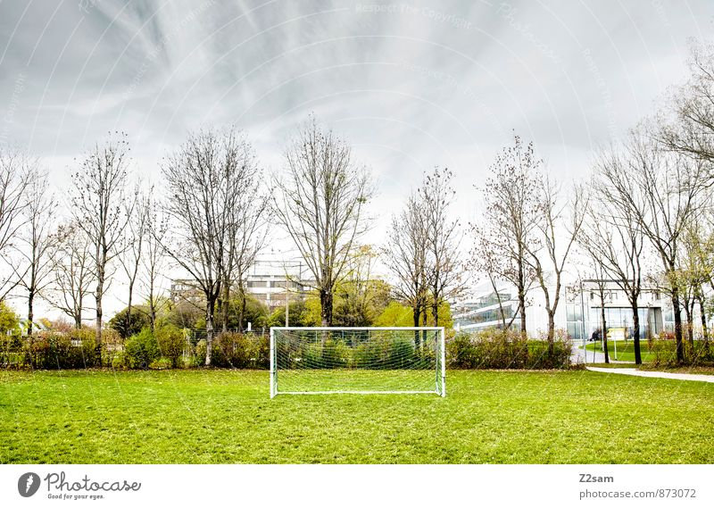 GAME R A U U M Leisure and hobbies Playing Summer Sports Sporting Complex Football pitch Nature Sky Clouds Autumn Tree Grass Bushes Meadow Small Town Healthy