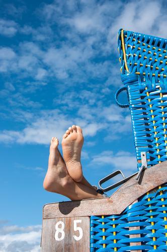 vacationer Pedicure Vacation & Travel Summer Summer vacation Sun Sunbathing Beach Ocean Island Aquatics Cycling Swimming & Bathing Feet Feet up Relaxation Lie