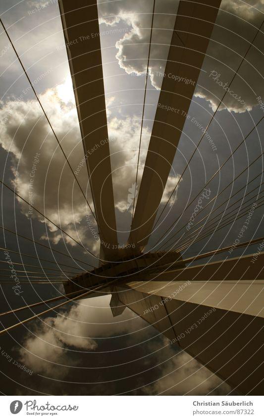the dark side Clouds Freeway Speedway race Ludwigshafen Bridge Sky Pylon