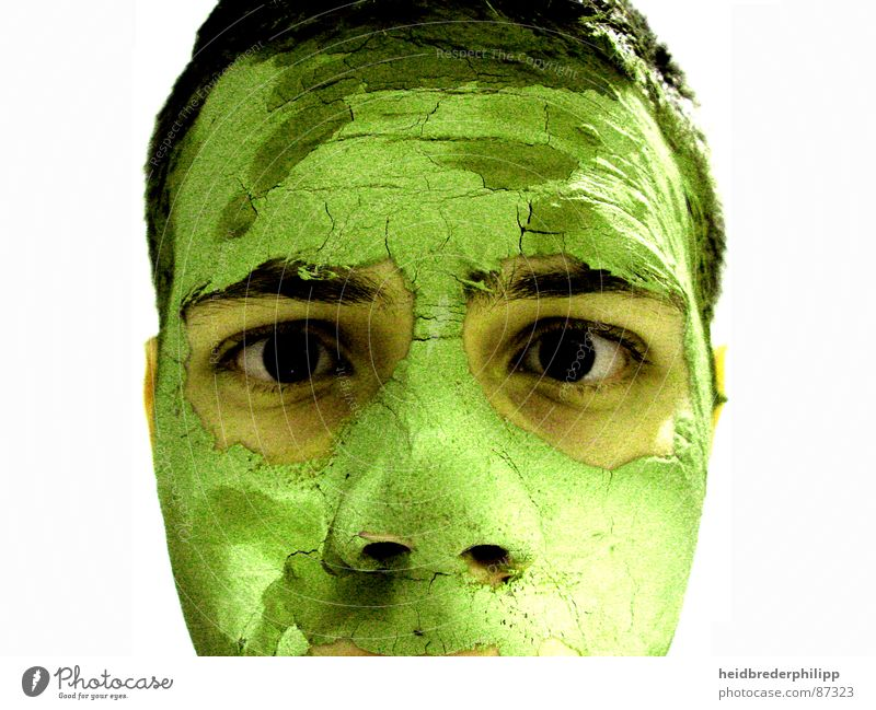 Green Face Art Skin Mask Really Arts and crafts