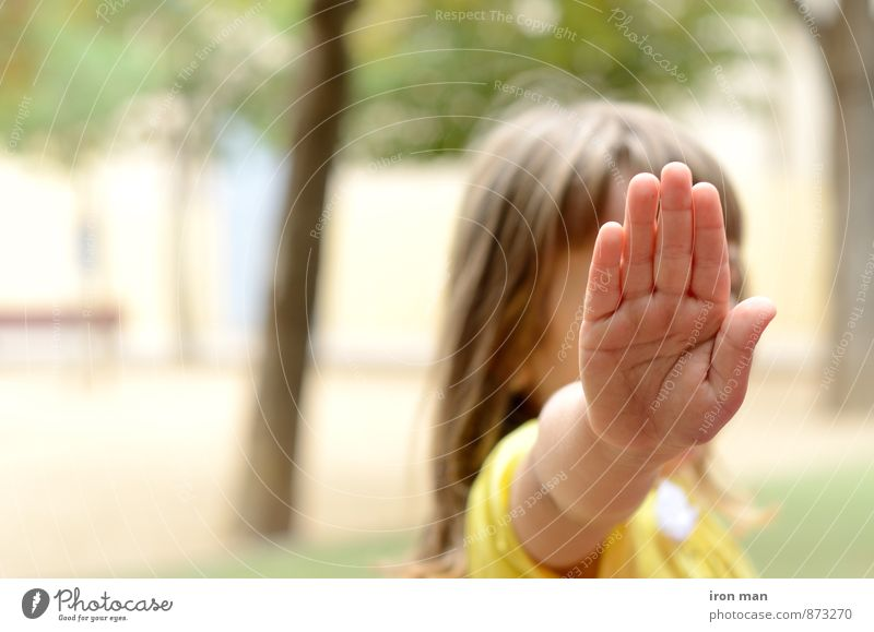 Playing Human being Child Girl Hand 1 Testing & Control Colour photo Exterior shot Day