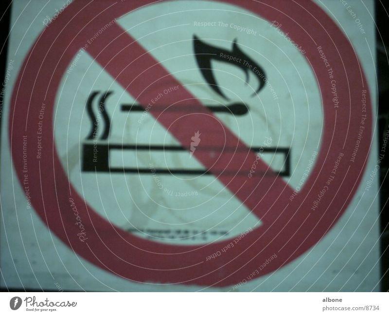 Blaze Industry Smoking Bans Match Warning sign
