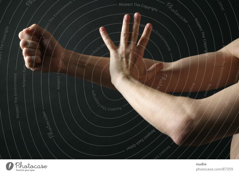 Man Hand Fitness Body art Tai Chi