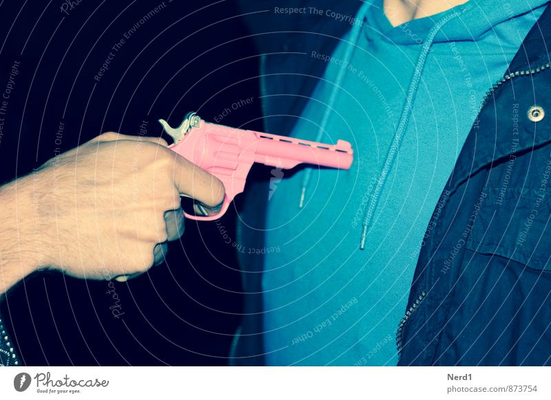 PINk Night life Aggression Blue Pink Animosity Revenge Force Weapon Colour photo Multicoloured Exterior shot Detail Lomography Neutral Background Flash photo
