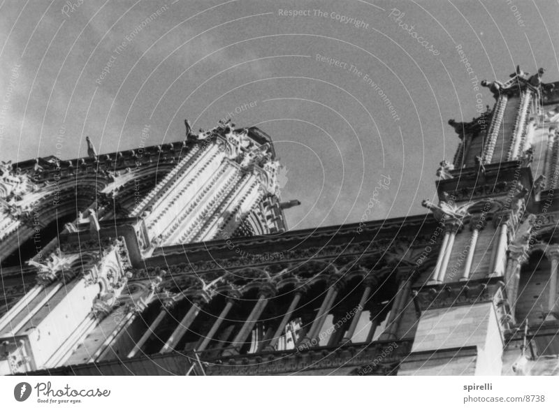 Sky Religion and faith Architecture Tower Paris France Dome Cathedral Notre Dame
